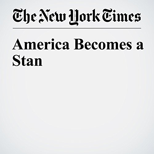 America Becomes a Stan copertina
