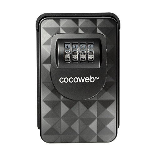 Cocoweb HKPV-W | Heavy Duty Combination Storage Lock Box - Wall Mounted, Black