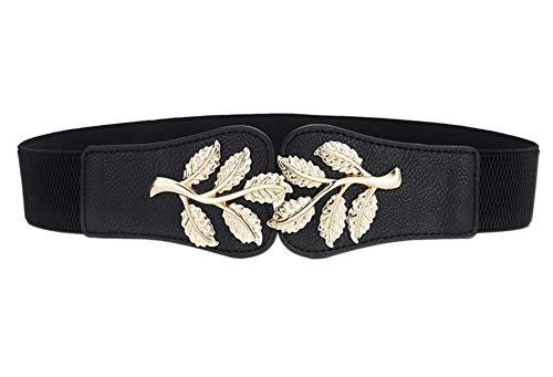 Oyccen Elegante Cinturón de Cintura Ancho para Mujer Pretina Elástico Banda de Cintura para Vestido