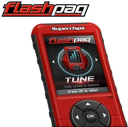 """BRAND NEW SUPERCHIPS FLASHCAL F5 IN-CAB TUNER,2.8"""" COLOR SCREEN,COMPATIBLE WITH 1999-2019 FORD DIESEL & GASOLINE ENGINES"""