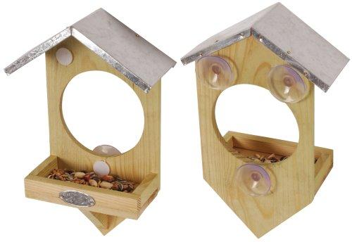 Esschert Design Fensterfutterhaus, Holz, 17 x 20 x 9 cm, FB4 - 3