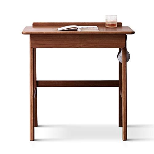 Escritorio de madera maciza para computadora con cajones, Escritorio moderno y resistente para computadora portátil, Escritorio y tocador de madera maciza de tamaño pequeño para la oficina en casa