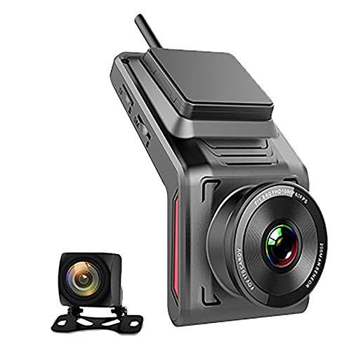 Cimoto Nuevo Dash CAM 4G Coche Dvr HD 1080P GPS WiFi Dash CAM Grabadora de Doble Lente Auto Camera Registrar Dvr con Perro Electrónico
