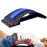 Back Stretcher for Lower Back Pain Relief,Multi-Level,Back Stretching Device, Lumbar Support Massager,for Herniated Disc, Sciatica, Scoliosis,Yoga, Back Stretcher for Bed, Chair & Car(Blue)