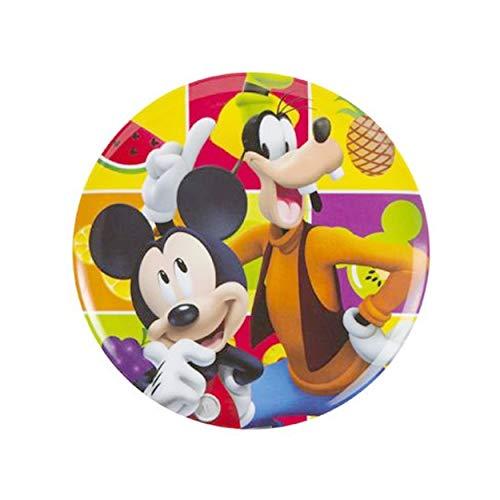 Plato infantil Mickey y Goofy (20 cm) melamina