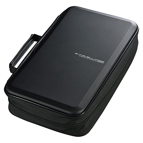 SANWA (Japan Brand 104 Large Capacity CD Case, Portable DVD/VCD Storage, EVA Protective Blu-ray Wallet, Binder, Holder, Booklet with Attached Handle for Car, Home, Office, Travel (Black)