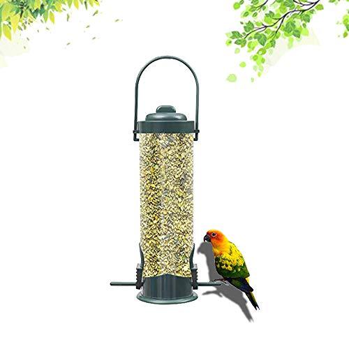 ZONSUSE Comederos para Aves de Comida de Grano, 26 cm,Columna de alimentación para pájaros,Comedero para Pájaros Salvajes,a la Intemperie Decoración de Jardín al Aire Libre