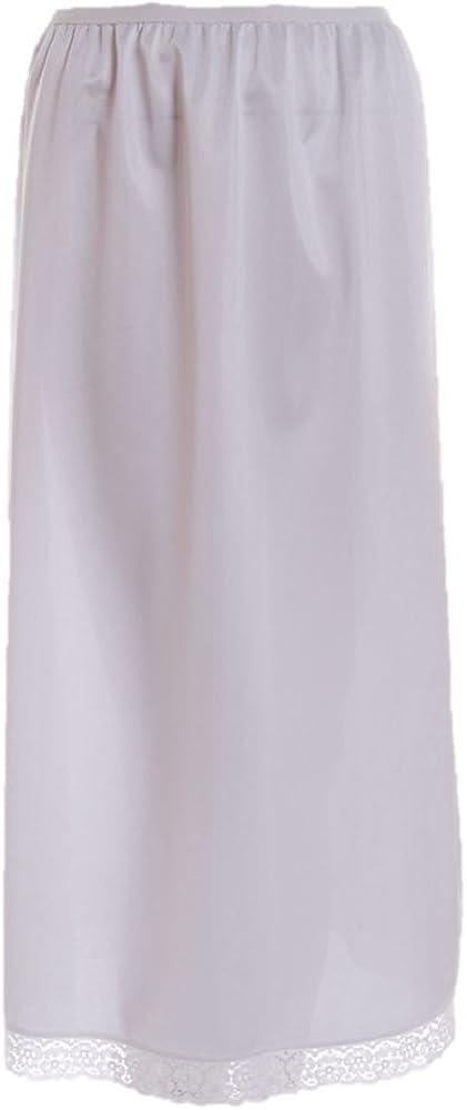 Ladies Polyester Waist Half Slip Ivory