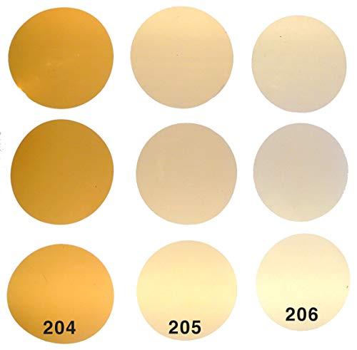 Warmlicht Filterset CTO für LED Lampen GU10, 3 Farben je 3 STK. Kreiszuschnitt 5cm