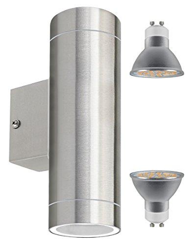 Long Life Lamp Company Spot LED 2 Sources Acier Inoxydable, 5watt