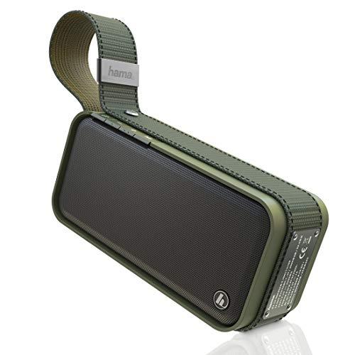 Hama Bluetooth Lautsprecher wasserdicht (Tragbare Music Box, Kabelloser Bluetooth Speaker, Robuste Festival Musikbox, 20 W mit integrierter Powerpack, USB) oliv-grün