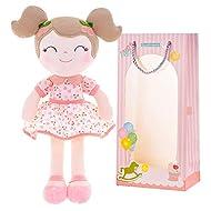 Gloveleya Rag Doll Baby Girl Gifts Plush Soft Dolls Cherry Girl Pink 16 Inches with Gift Box