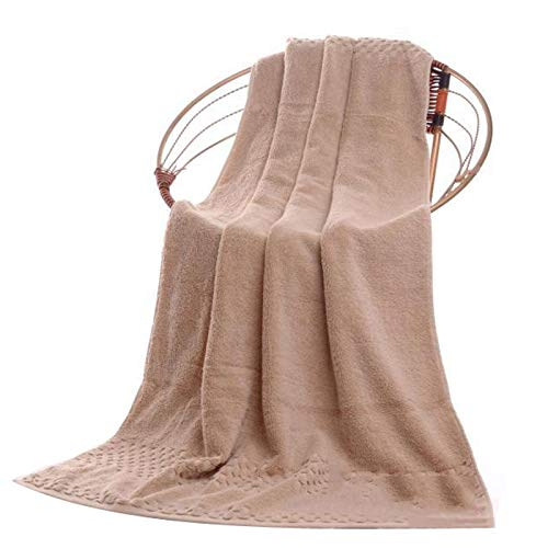 Tauzveok Toalla de baño Absorbente Toalla de baño Suave Microfibra en Ultra Suave algodón y baño Absorbente y SPA (dimensión: 70 * 140 cm / 90 * 180 cm),Marrón,70 * 140cm