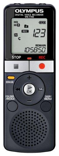 Olympus VN-7700 Diktiergerät (2 GB Speicher, 1151 Std. Aufnahme, VCVA, inkl. Batterie und Tasche)