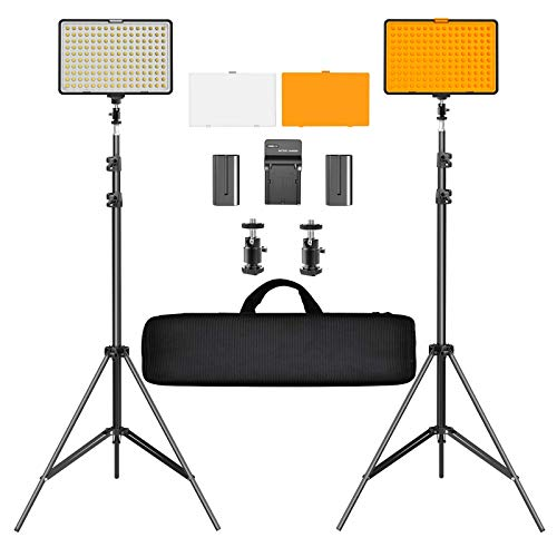 SAMTIAN LED Video Light Kit