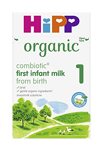 HiPP Organic 1 First Infant Baby Milk Powder from Birth (Case of 4 x 800g boxes)