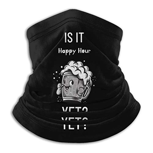 is It Happy Hour Yet Neck Gaiter Tube Mask Headwear, Motorcycle Face-Mask Face Scarf, Balaclava Black
