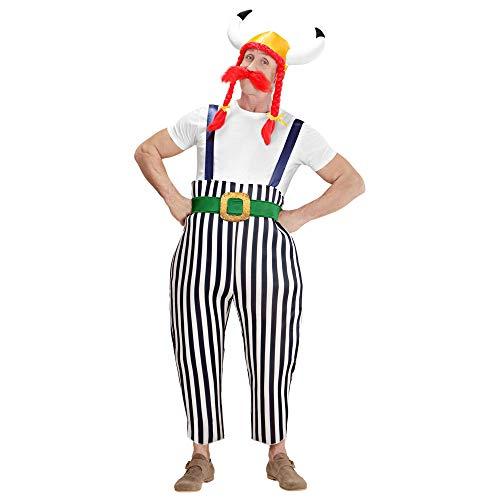 Widmann 39623 - Kostüm Gallier, Maxi-Hose mit Hosenträgern, Gürtel, Helm mit Zöpfen und Schnurrbart, Mottoparty, Karneval