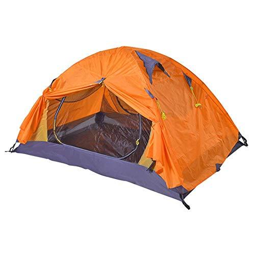 Tente de Camping Double Couche pour 2 Personnes, Tissu en Polyester imperméable 210T, Tapis de Pique-Nique Multifonctionnel, Voyage de randonnée léger pour la randonnée en Plein air