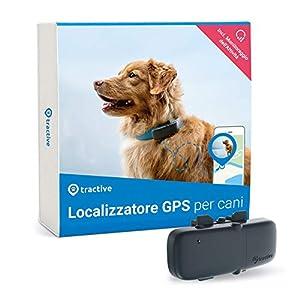 immagine di Tractive Localizzatore GPS per cani, a Portata illimitata, Monitoraggio dell'attività, Impermeabile (Ultimo modello)
