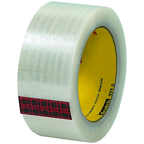 "3M 371 Carton Sealing Tape, 1.9 Mil, 2"" x 110 yds, Clear, 36/Case, 3M Stock# 7100011547"