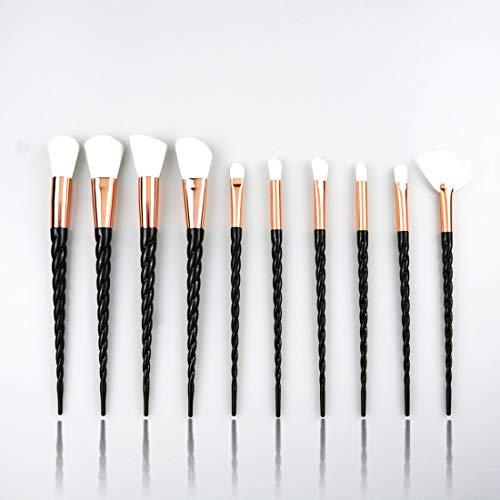 UZZHANG 4pcs de la brosse ombre à paupières sertie d'une brosse de combinaison - rose. (Couleur : Noir)