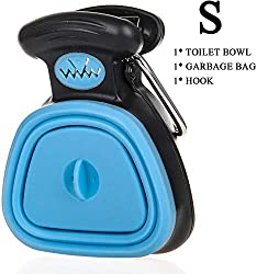 New Pet Dog Pooper Scooper, Portable Dog Poop Scoop with Waste Bag Dispenser, Yard Pooper Scooper, Handheld Scooper