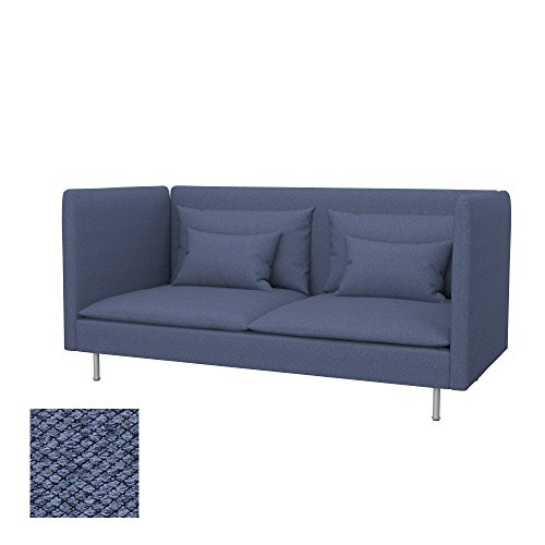 Soferia - IKEA SÖDERHAMN Funda para sofá de 3 plazas, Espalda Alta, Nordic Denim