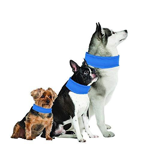 GOUSHENG kraag Comfortabele Hond Koeling Kraag, Hond Koelen Bandana Ice Chill Out Sjaal Voor Hete Zomer - Niet Toxic, Lichtgewicht - Houd Huisdieren Cool, Cool Stuff Voor Huisdier - Blauw - Klein