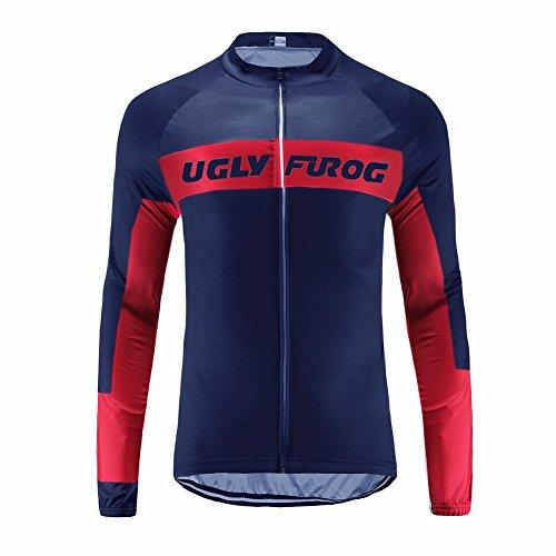 Uglyfrog Bike Wear Maillot Bicicleta Hombre Invierno Maillot Ciclismo Manga Larga para Hombres con Bolsillos