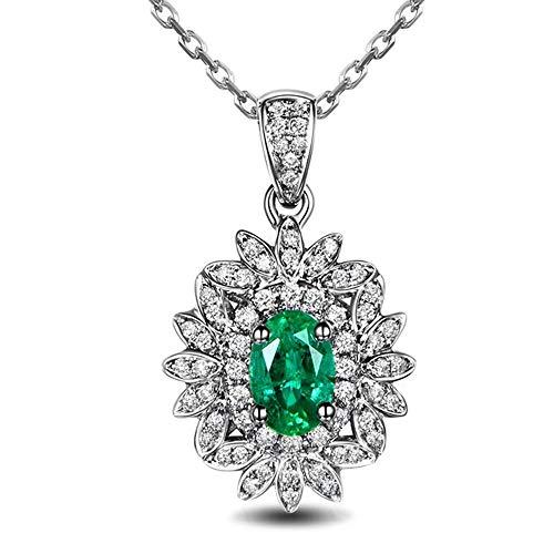 necklace Ladies fashion Solid platinum and diamond gem 9CT wedding engagement commitment Pendant Set for Women Hoisting