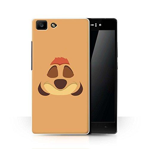 Hülle Für Oppo R5 Karikatur Afrikanische Tiere Timone Inspiriert Design Transparent Ultra Dünn Klar Hart Schutz Handyhülle Case
