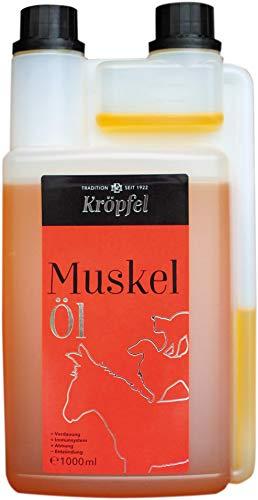 KRÖPFEL Premium Muskelöl für Pferde - 1000ml - hochwertige Gamma-Oryzanol Fettsäure für Pferd - Leistungssteigerndes Ergänzungsfuttermittel - fördert Muskelaufbau - hergestellt in Österreich