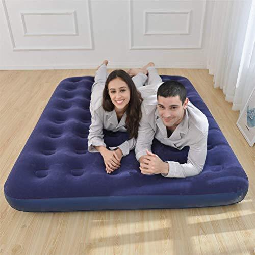 Zixin Doppelluftmatratze tragbares Camping aufblasbares Bett Beflockung Matratze mit elektrischer Luftpumpe, Max Last 500kg, for Innen und Außen (Größe: 191 * 73 * 22cm) (Size : 191 * 99 * 22CM)