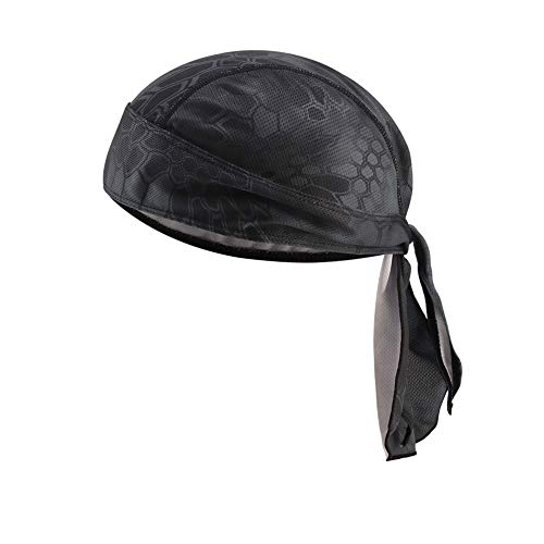 Pañuelo unisex para la cabeza, transpirable, pirata, ciclismo, moto, pañuelo pirata para...