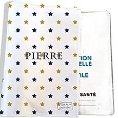 Grand porte ordonnance et carte vitale Motif Flamants et feuillage roses fond bleu R/éf 3116