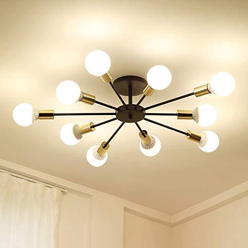 Dellemade Sputnik - Lámpara de araña de 10 luces en estilo