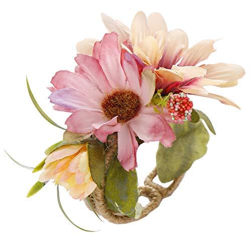 tianxiangjjeu Bruids Pols Corsage Kunstmatige Bloem Armband Bruiloft Ornament Photo Studio Prop roze