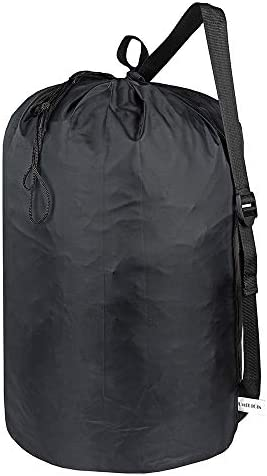 UniLiGis Laundry Bag Backpack with Strap Nylon Dirty Clothes Shoulder Bag with Drawstring Closure product image