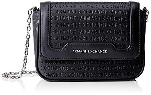 Armani Exchange AX Damen Small Chain Crossbody Umhängetasche, Bluette, Einheitsgröße