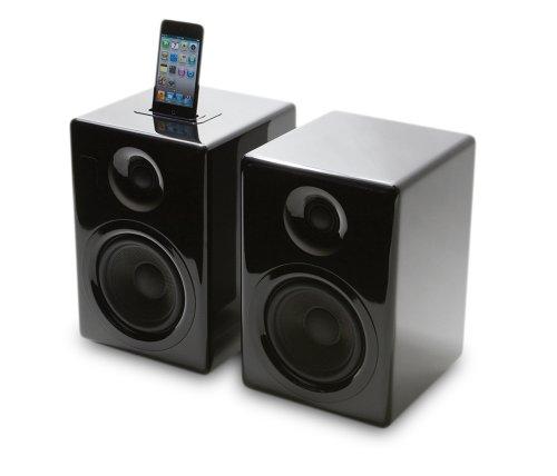 Kanto iPair 5 2.0Kanäle Schwarz - Docking-Lautsprecher (2.0 Kanäle, iPad,iPhone,iPod, Schwarz, 10,5 kg, 190 x 200 x 272 mm)