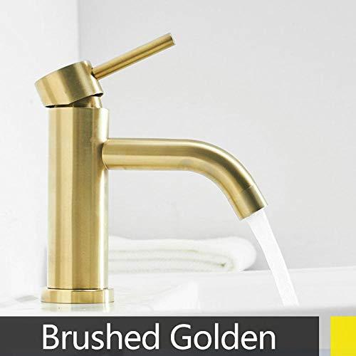 Waschraumarmaturen Küchenarmaturen Gebürstet gold poliert edelstahl farbe wasserhahn bad becken heiß kalt mischbatterie langen auslauf kran wasserhähne-b