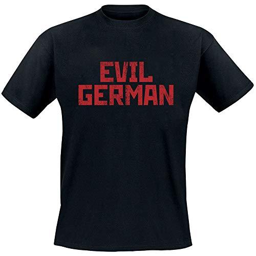 Rammstein Herren T-Shirt Evil German Offizielles Band Merchandise Fan Shirt schwarz mit mehrfarbigem Front und Back Print (XL)