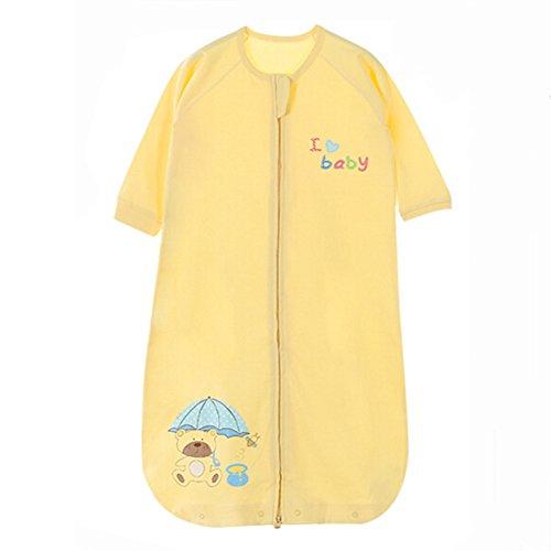 Sommer Frühling Baby Schlafsack Baumwolle, 0-5Yrs, hellgelb, groß