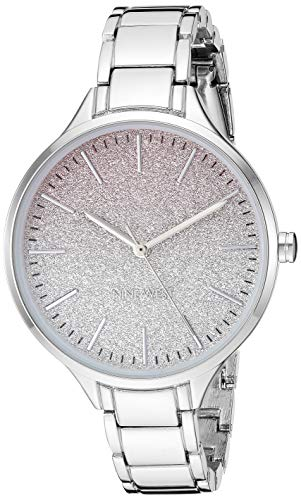 Nine West Women's Silver-Tone Bracelet Watch, NW/2337OMSV