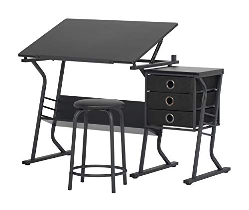 SD STUDIO DESIGNS Eclipse Craft Center in Black / Black 13365