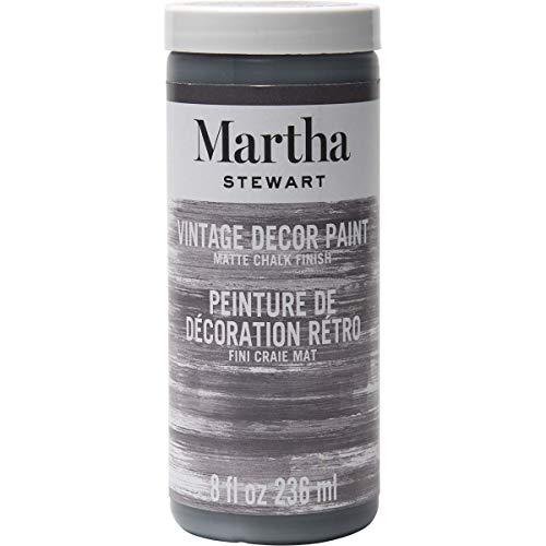 Martha Stewart Crafts 33527 Martha Stewart Vintage Decor Matte Chalk Paint, 8 oz, Charcoal