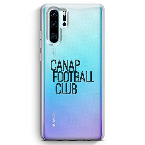 ZOKKO - Carcasa para Huawei P30 Pro Sofa Football Club – Flexible Transparente Tinta Negro