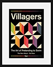 Stick It On Your Wall Villagers - The Art of Pretending to Swim (White Mount) Framed Mini Poster - 44x34cm