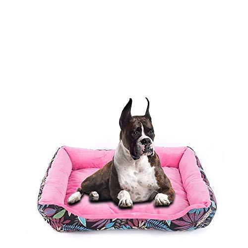 mdtep Haustier liefert Hundebett Kleiner und mittlerer Hund Welpen-Bett-Recliner Hund Sofa Katze Haus Haustiernest Waschbares Hundebett (Color : Pink, Size : Medium)